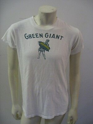 Vintage 1940s GREEN GIANT Jolly Green Giant Advertising T Shirt Size LARGE