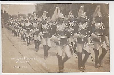 Rp 1St Life Guards Windsor , Real Photo By J R Berys   C 1910