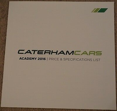 Caterham Cars Lotus Style Sports Car Academy Price List 2016