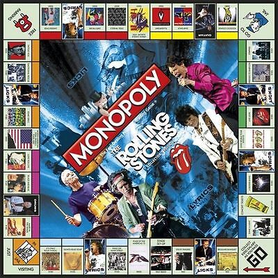 The Rolling Stones Monopoly Collector's Edition 2010 NEW NIB Tumbling Dice Token