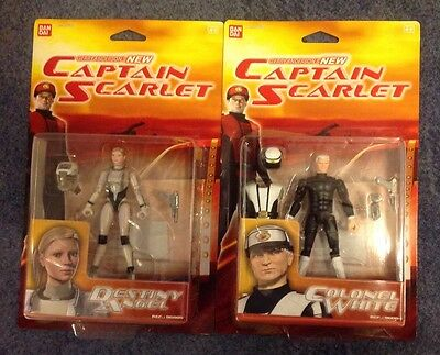 Colonel White and Destiny Angel Action Figures From Captain Scarlet TV Series