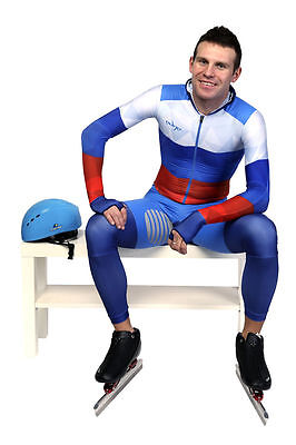 Edge  Long Track speed skating SKIN SUIT  rubber