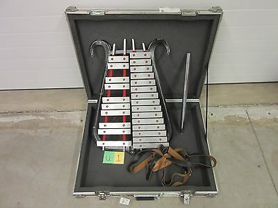 Musser Deluxe Marching Band Xylophone Glockenspiel Bell Lyre Usmc Military