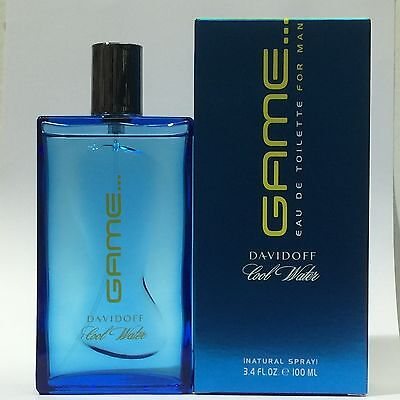 COOL WATER GAME BY DAVIDOFF 100ml EDT Spray Men's Perfume ( RARE )