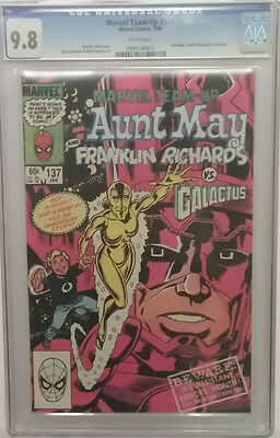 MARVEL TEAM-UP  #137 CGC White 9.8 Aunt May and Franklin Richards vs. Galactus