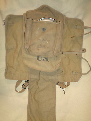 WW1 Era M1910 Haversack Meat Can Pouch Mess Tin Cutlery Knife Spoon Fork Lot