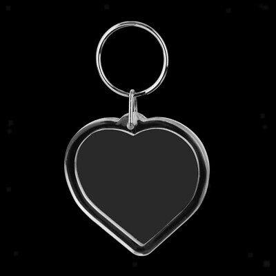 10pcs Love Heart Blank Insert Photo Picture Frame Key Ring Keychain Keyring