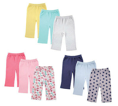 Luvable Friends Baby Boys & Girls 3 Pack Bottoms Available in Pink Blue & Yellow
