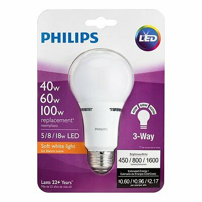 Philips 459156 40/60/100W Equivalent 3-Way A21 LED Light Bulb (2 Pack)