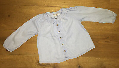 Girls Shirt/Blouse - Age 2-3 by Next -  1 Pale Blue