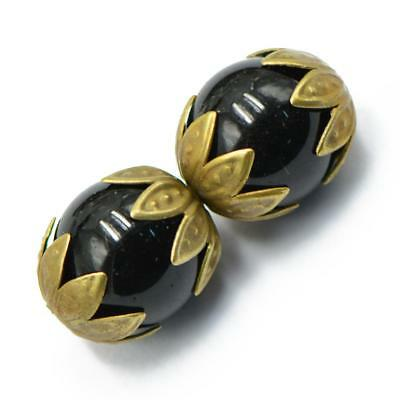 50pcs Antique Bronze Flower Bead Caps Charms Jewelry Making Findings 10mm