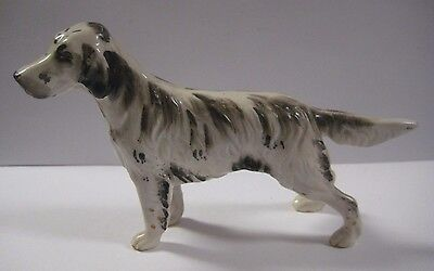 "Vintage ENGLISH SETTER Dog Figurine Terrier JAPAN 6"" x 4"" Ceramic Porcelain RARE"