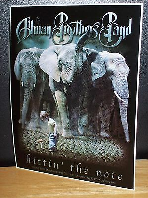 The Allman Brothers Band Elephants/boy/mushroom Sticker New Officially Licensed