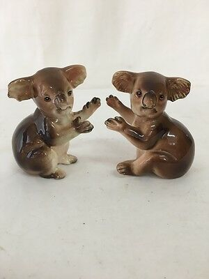 Vintage Salt and Pepper Shakers Koalas Australiana Stamped Japan