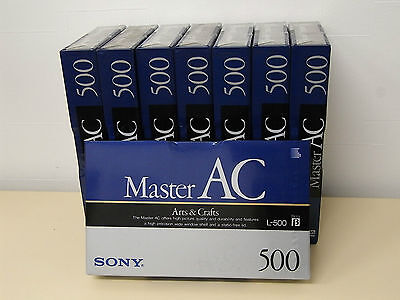 Lot of 8 SONY Master AC L-500 Beta β video cassette tape L-500MAC made in Japan