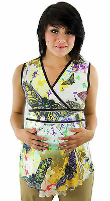 Butterfly Maternity Pregnancy Top Sublimation