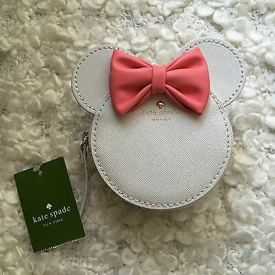 Disney Mickey's Minnie Kate Spade Coin Wallet Purse Unusual White Pink Color