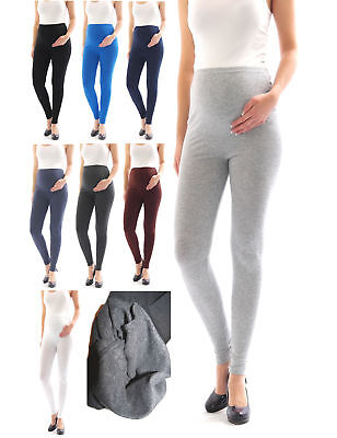 Maternity leggings Thermo Fleece interior Long trousers pants Cotton
