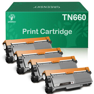 4 Pack TN660 Toner Cartridges Compatible for Brother TN630 DCP-L2540DW HL-L2300D