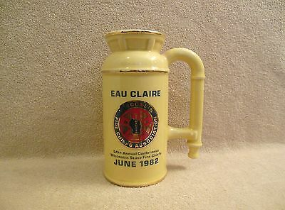 1982 54th ANNUAL CONFERENCE WISCONSIN STATE FIRE CHIEFS FIGURAL STEIN