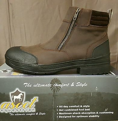 Ascot Womens Yard Boot Brown SZ 37