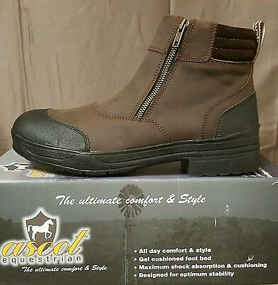 Ascot Womens Yard Boot Brown SZ 43