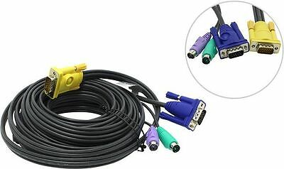 Aten KVM Cable SPHD15M PS2M PS2M HD15M 6m / 6 Meters Console Connector 2L-5206P