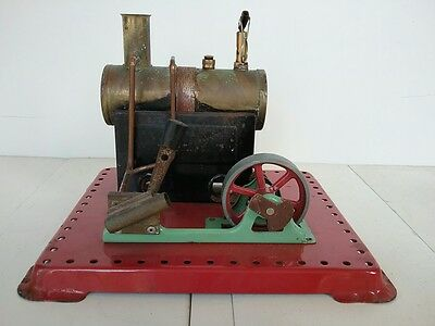 Genuine~Vintage~Green~&~Red~Live~Stationary~MAMOD~Steam~Engine~S.E.2a