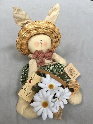 BUNNIES, BEARS AND FRIENDS He Loves Me Rabbit VALPARAISO, INDIANA  Free Shipping