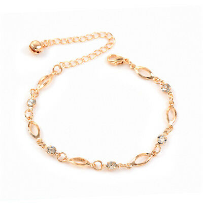 Women Gold Chain Infinity Ankle Anklet Bracelet Barefoot Sandal Foot Jewelry