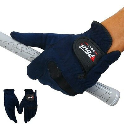 Mens Soft Right Left Hand Microfiber Cloth Breathable Abrasion Golf Gloves New