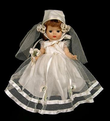 Bent Knee Walker MUFFIE Doll Dressed in Vogue Bridal Dress Ginny Trousseau