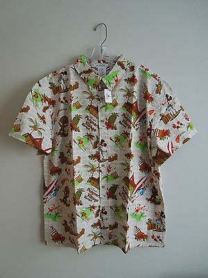 NEW with TAGS Disney World Polynesian Resort Tiki God Dole Whip Shirt Large