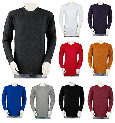 Big and Tall Mens THERMAL Shirts - Crew - Heavy Weight - Cotton Blend