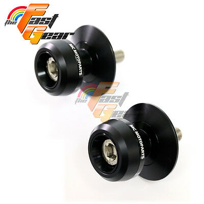 Twall Protector Black  Swingarm Spools Sliders Fit Kawasaki Z750R 2001-2015