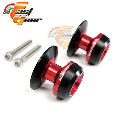 Red Twall Protector Swingarm Spools Sliders Fit Yamaha YZF R6 1999-2015