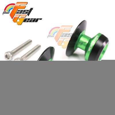 Green Twall Protector Swingarm Spools Sliders Fit Yamaha YZF-R1 1999-2015