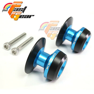 Blue Twall Protector Swingarm Spools Sliders Fit Yamaha YZF R6 1999-2015