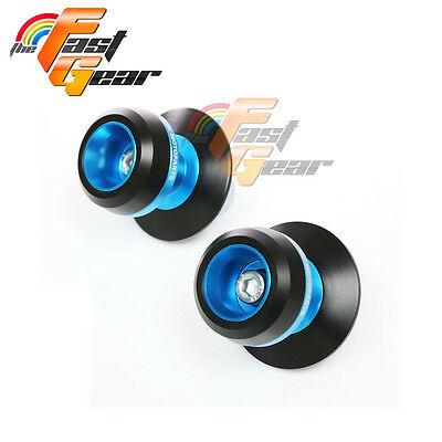 Blue Twall Protector Swingarm Spools Sliders Fit Yamaha MT-01 2005-2012