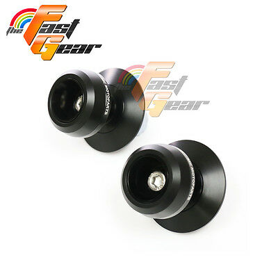 Black Twall Protector Swingarm Spools Sliders Fit Yamaha MT-09 / FZ-09 2013-2015