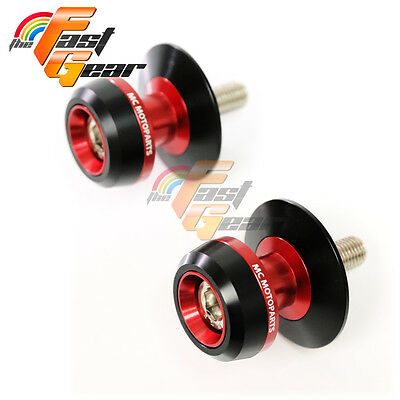 Twall Protector Red  Swingarm Spools Sliders Fit Kawasaki ZX-10R Ninja 2004-10