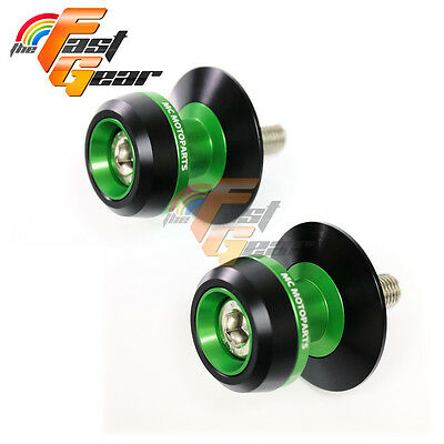 Twall Protector Green  Swingarm Spools Sliders Fit Kawasaki Z750R 2001-2015