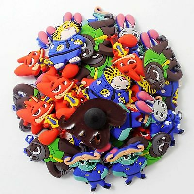 Child Party Gifts 50pcs Cartoon Judy Nick Shoe Charms For Croc Jibbitz Bracelets