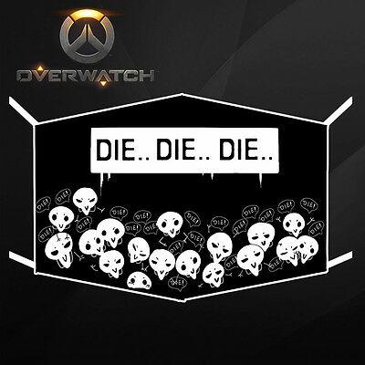 Overwatch Reaper Die Cotton Breathing Mask OW Gauze Mask PM2.5 Mask