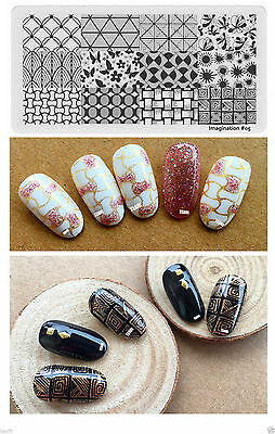 2019 New Stamping Plates Lace Stamp Template Nail Art Design Latest Display