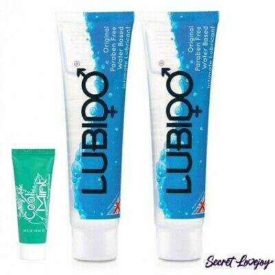 2 x Lubido Lubricant, Water Based, Sex Aid 100ML + Free 12ml Cool Mint Lube