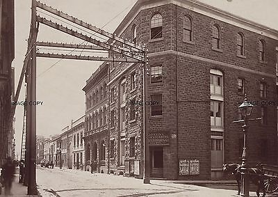 Flinders Lane To East from Bond St 1880 Melbourne Orient Lines