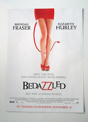 BEDAZZLED - Liz Hurley  -  ORIGINAL POSTER VINTAGE ADVERT 2000 FILM Comedy
