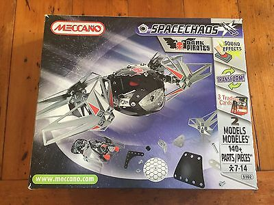 Meccano Space Chaos Dark Pirates 3 In 1 Kit With Electronic Soundbox