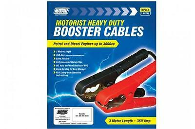 Maypole MP351 Heavy duty Jump Leads Booster Cables 10mm x 3m New